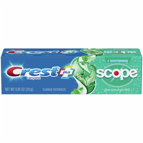 Crest Complete Whitening+Scope Minty Fresh Striped Toothpaste Perspective: front