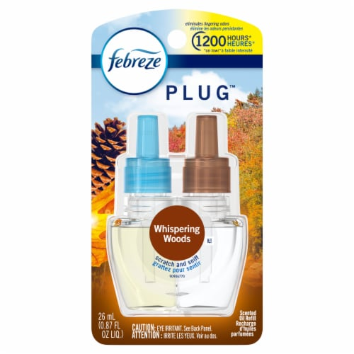 Febreze Plug Whispering Woods Scented Oil Refill Perspective: front