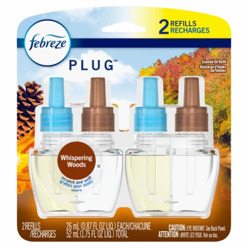 Febreze Whispering Woods Plug Refills Perspective: front