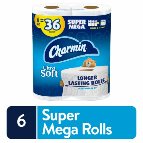 Charmin Ultra Soft Super Mega Roll Toilet Paper Perspective: front