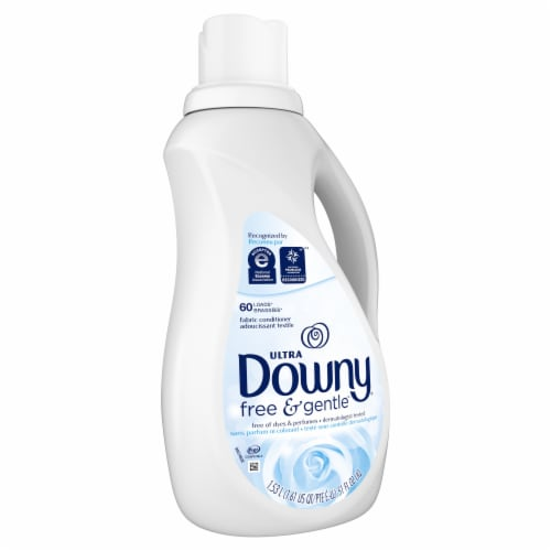 Downy Ultra Free & Gentle Liquid Fabric Softener Perspective: front