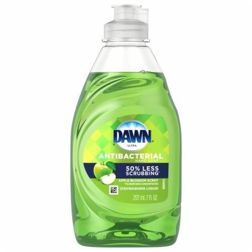 Dawn Apple Blossom Scent Antibacterial Hand Soap & Dishwashing Liquid Perspective: front