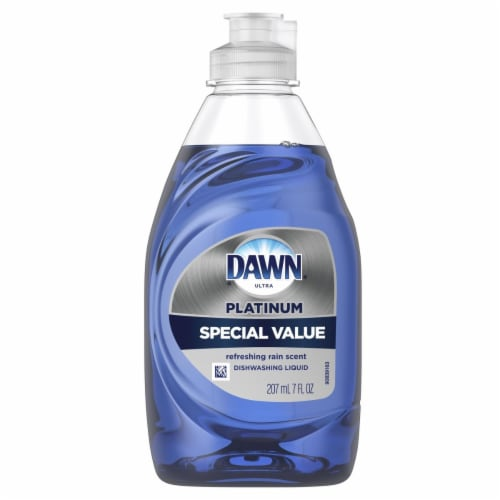 Dawn Ultra 40018 7 oz Refreshing Rain Platinum Special Value Dishwashing Liquid Perspective: front