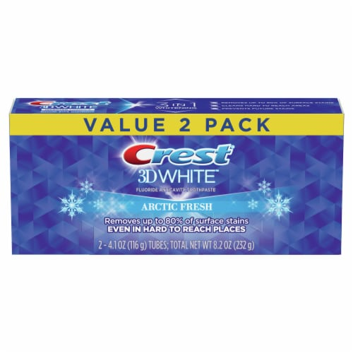 Crest 3D White Whitening Toothpaste Arctic Fresh Value Pack Perspective: front