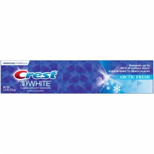 Crest 3D White Whitening Toothpaste Arctic Fresh Perspective: front