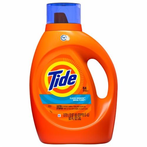 Tide Clean Breeze Liquid Laundry Detergent Perspective: front