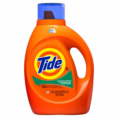 Tide Mountain Spring High Suds Liquid Laundry Detergent Perspective: front