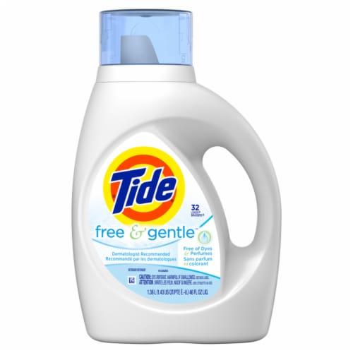 Tide® Free & Gentle™ Liquid Laundry Detergent Perspective: front