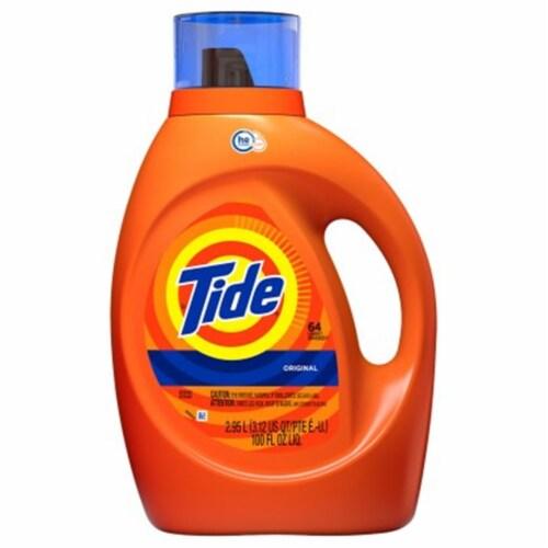 Tide Laundry Detergent,Liquid,Bottle,PK6 Perspective: front