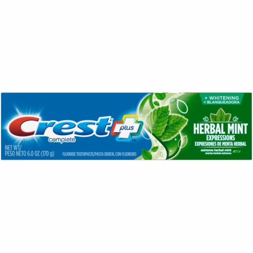 Crest Complete Plus Herbal Mint Whitening Toothpaste Perspective: front