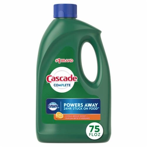 Cascade Complete Citrus Breeze Scent Dishwasher Detergent Gel Perspective: front