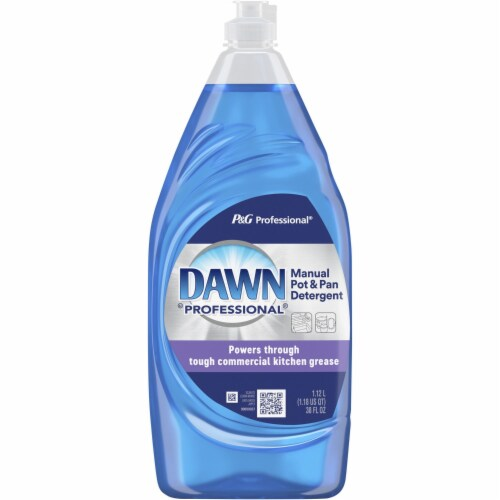 Dawn Professional Manual Pot/Pan Dish Detergent, 38 Oz Bottle 45112EA Perspective: front