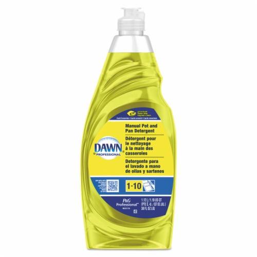 Dawn Professional Manual Pot/Pan Dish Detergent, Lemon, 38 Oz Bottle 45113EA Perspective: front