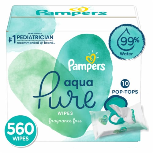 Pampers Aqua Pure Baby Wipes Perspective: front