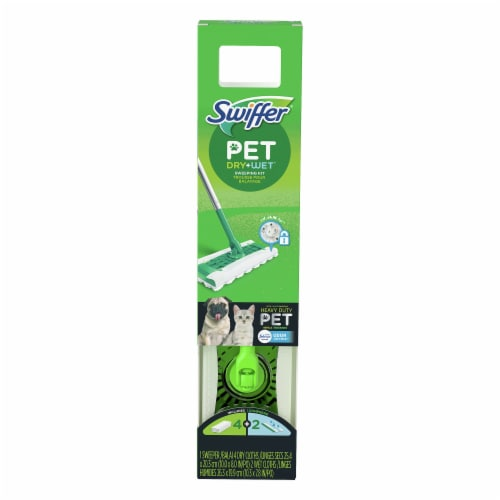 Swiffer® Pet Dry + Wet Sweeper Starter Kit Perspective: front