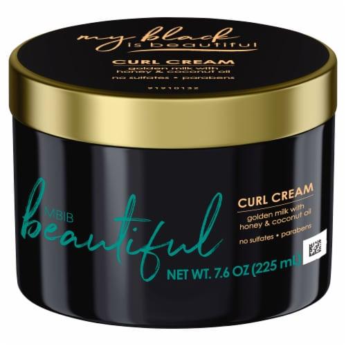 My black is beautiful Golden Milk with Honey & Coconut Oil Curl Cream Perspective: front