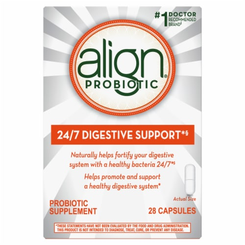 Align Probiotic Capsules Perspective: front