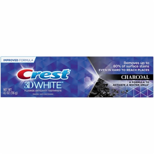 Crest 3D White Charcoal Whitening Toothpaste Perspective: front