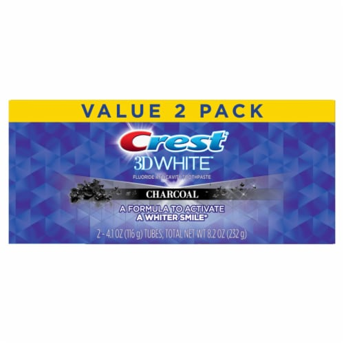 Crest 3D White Charcoal Whitening Toothpaste Value Pack Perspective: front