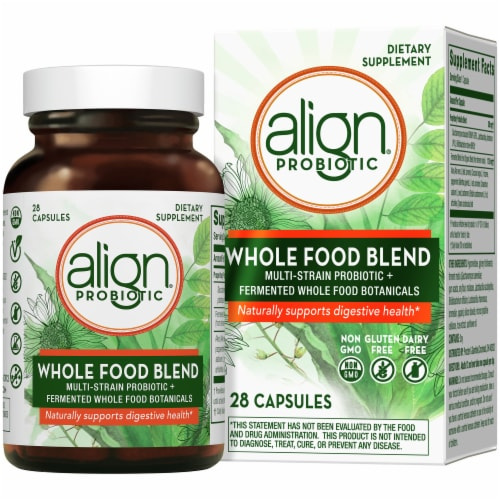 Align Probiotic Whole Food Blend Capsules Perspective: front