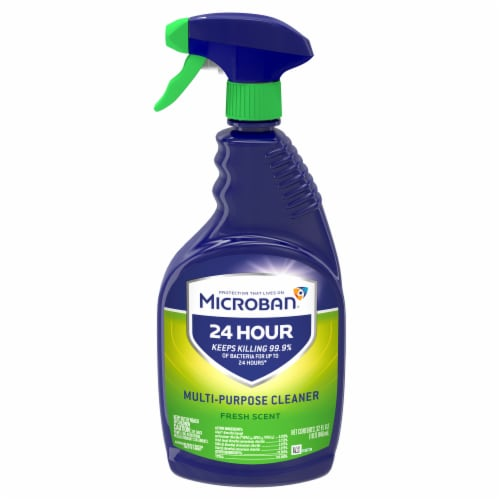 Microban Fresh Scent 24 Hour Multi-Purpose Cleaner and Disinfectant Spray Perspective: front