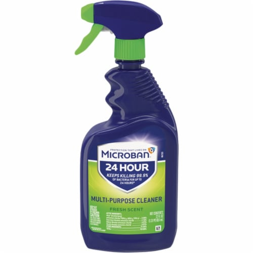 Microban 22 Oz. Fresh Scent Multi-Purpose Disinfectant Cleaner 3700048589 Perspective: front