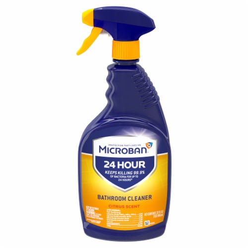 Microban Citrus Scent 24 Hour Bathroom Cleaner Perspective: front
