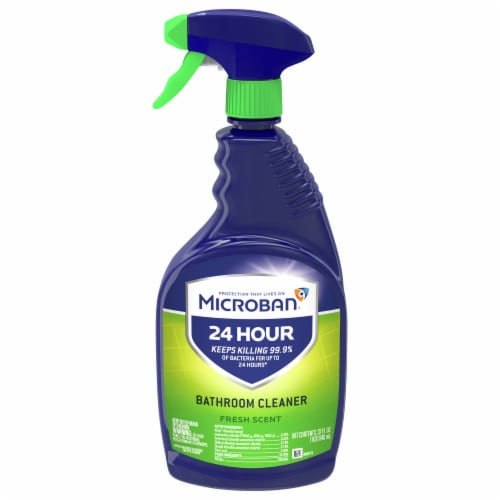 Microban Fresh Scent 24 Hour Bathroom Cleaner Perspective: front