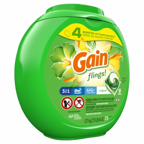 Gain Flings! Original Scent 3-in-1 Laundry Detergent Pacs Perspective: front