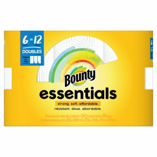 Bounty Essentials Select-A-Size Double Roll Paper Towel Perspective: front
