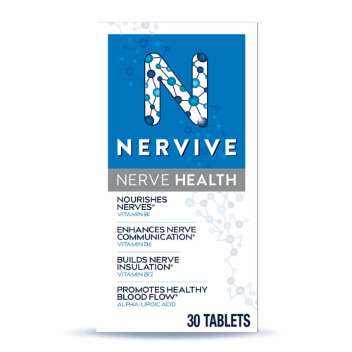 Nervive Nerve Health Dietary Supplement Tablets Perspective: front