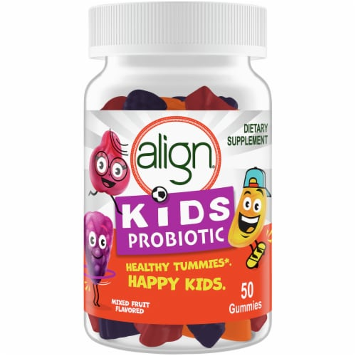 Align Kids Mixed Fruit Probiotic Gummies 50 Count Perspective: front