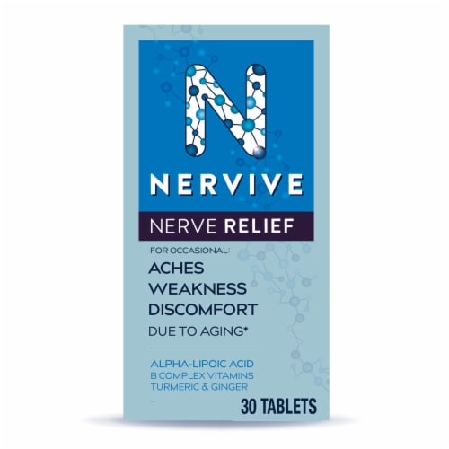 Nervive Nerve Relief Dietary Supplement Tablets Perspective: front