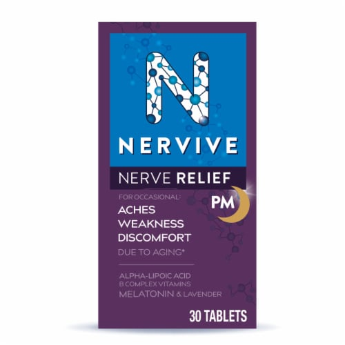 Nervive Nerve Relief PM Dietary Supplement Tablets Perspective: front