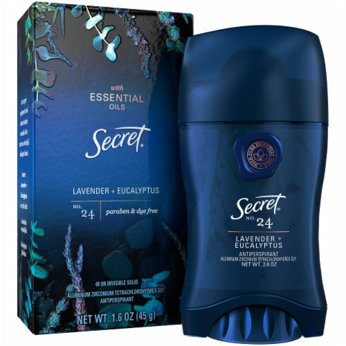 Secret No. 24 Lavender + Eucalyptus Invisible Solid Antiperspirant Perspective: front