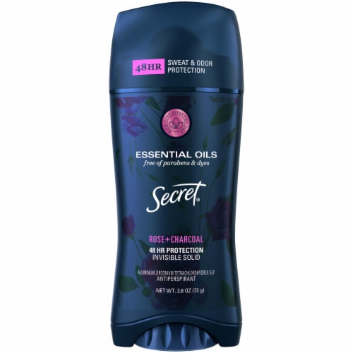 Secret Rose + Charcoal Scent Invisible Solid Antiperspirant Deodorant Stick Perspective: front