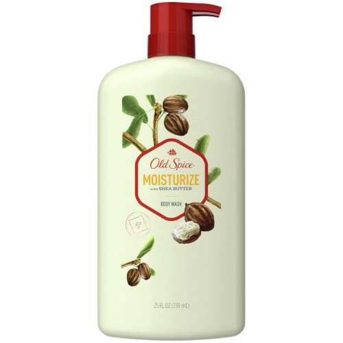 Old Spice Men Moisturize with Shea Butter Body Wash Perspective: front