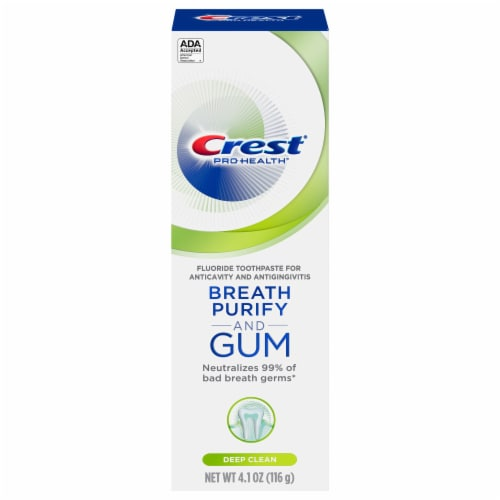 Crest Gum and Breath Purify Fresh Mint Deep Clean Toothpaste Perspective: front