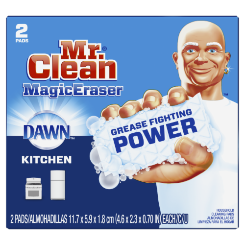 Mr. Clean® Kitchen Magic Eraser Household Cleaning Pads Perspective: front