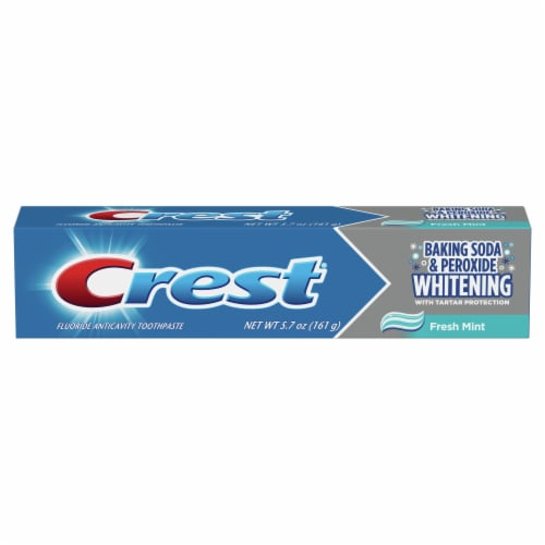 Crest Cavity & Tartar Protection Toothpaste Whitening Baking Soda & Peroxide Perspective: front