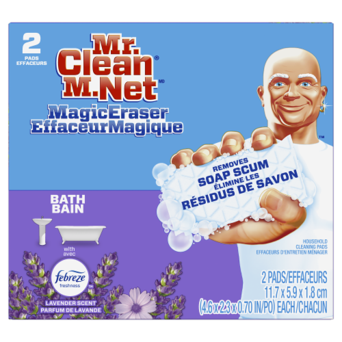 Mr. Clean Magic Eraser with Febreze Lavender Scent Cleaning Pads Perspective: front