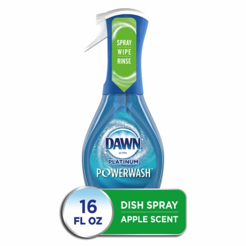 Dawn Ultra Platinum Powerwash Apple Scent Dish Spray Perspective: front