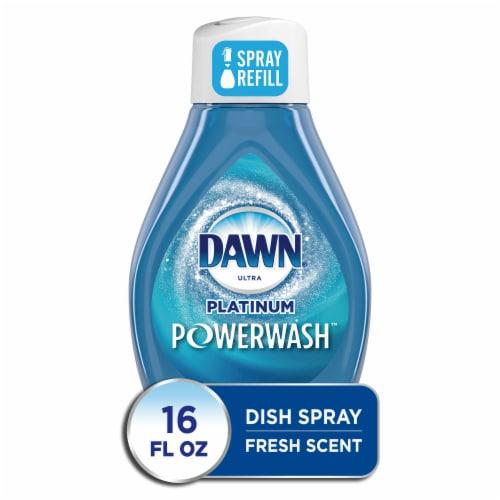 Dawn Platinum Powerwash Hand Dishwashing Liquid Fresh Scent Dish Spray Refill Perspective: front