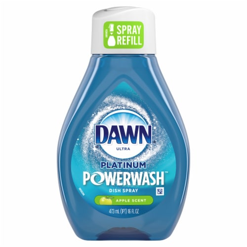 Dawn Ultra Platinum Powerwash Apple Scent Dish Spray Refill Perspective: front