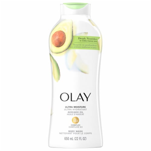 Olay Ultra Moisture Avocado Oil Body Wash for Women Perspective: front