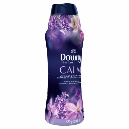 Downy Infusions Calm Lavender & Vanilla Bean In-Wash Scent Booster Beads Perspective: front