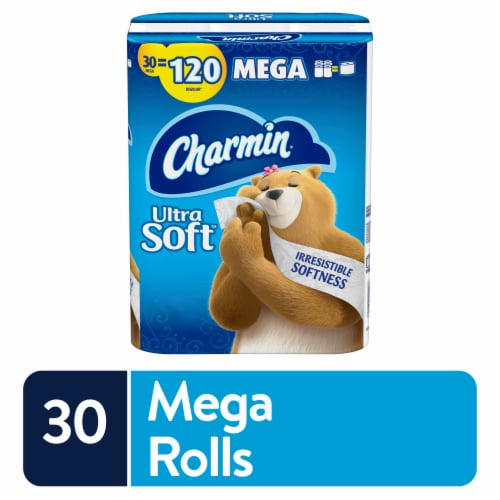 Charmin Ultra Soft Bathroom Tissue Perspective: front