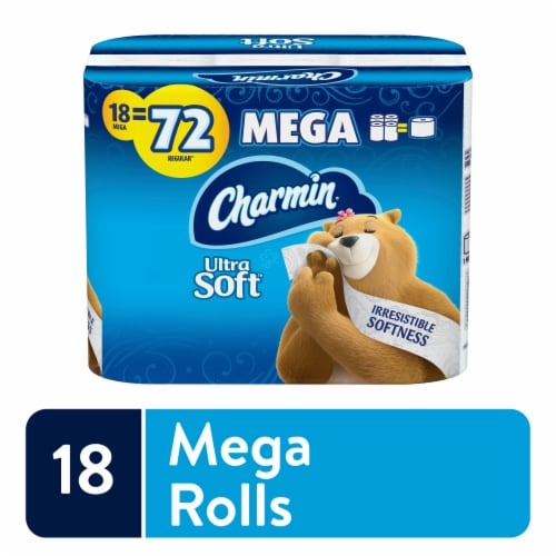 Charmin Ultra Soft Mega Roll Toilet Paper Perspective: front