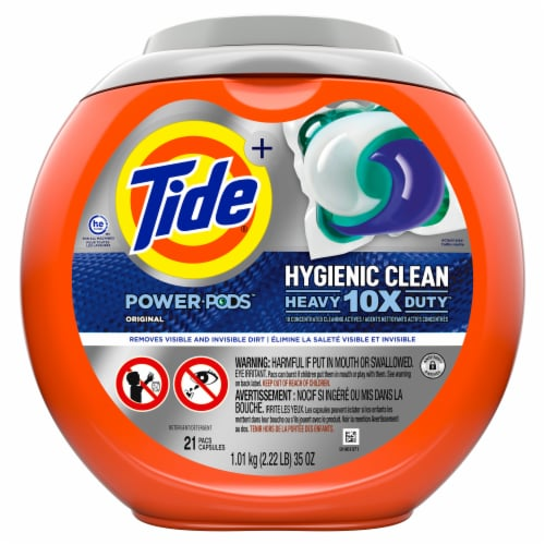 Tide Original Hygienic Clean Heavy Duty Power Pods Perspective: front