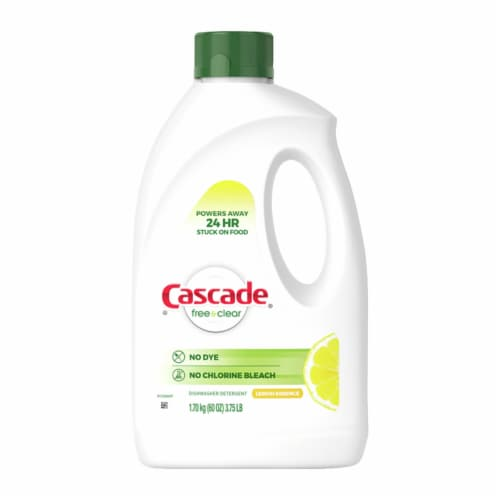 Cascade Pure Essentials Lemon Essence Dishwasher Detergent Perspective: front